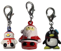 Hand Painted Christmas Bell Charms